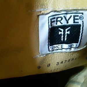 Vintage Black Label FRYE Leather Boots 9B